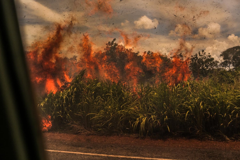 Ein brennender Landstrich.
